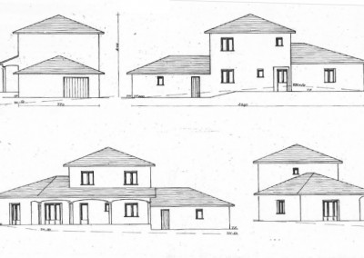 Plan d'une maison avec un étage