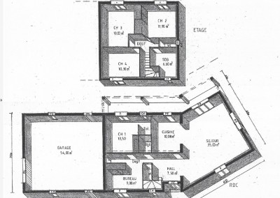 Plan 3d de maison à une étage 130m²