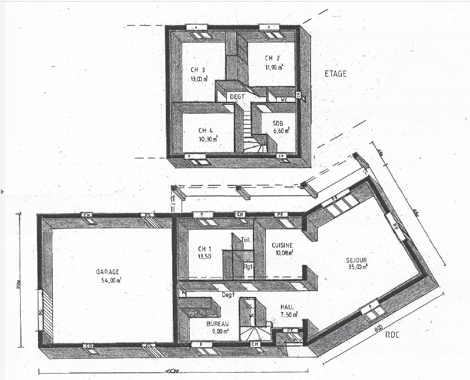 Plan de maison a etage maison vias une question plan for Plan maison 2016