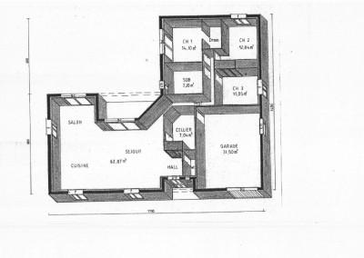 Plan 3d maison 125 m²