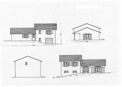 Maison 90m avec garage sur demi sous sol maisons lm for Plan maison demi sous sol