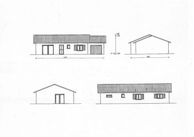 Plan d'une maison de 77m² plein pied