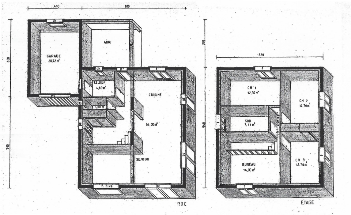Plan dune maison en etage maison moderne for Plan maison contemporaine etage