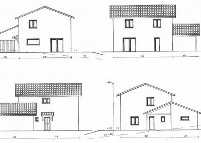 Plan d'une maison sur un étage 122m²