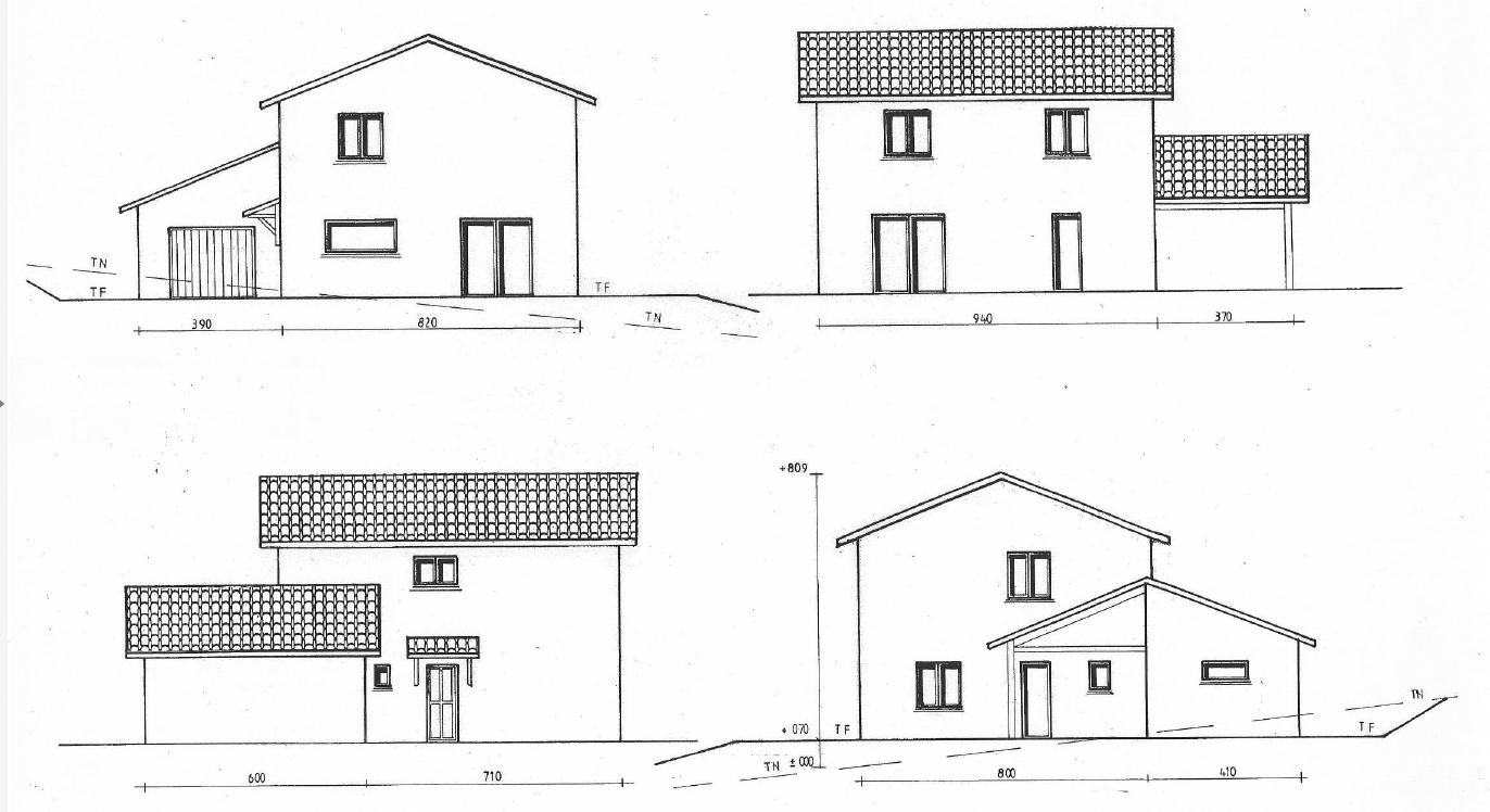 Plan maison 100m awesome plans pour une petite salle de for Plan maison 100m