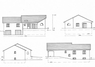 Plan d'une maison sur demi sous-sol