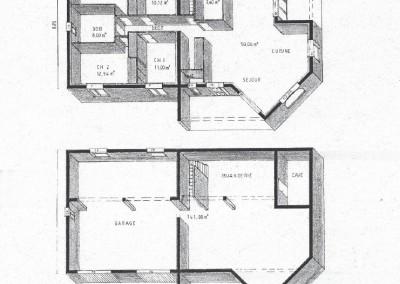 Plan en 3d de maison sous-sol 123m²