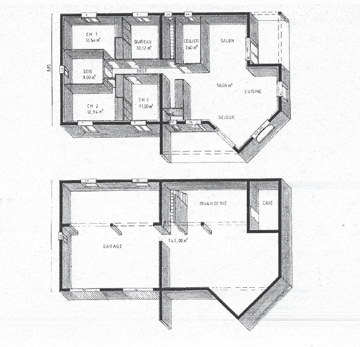 Plan maison sur sous sol rezdechauss du0027un nouveau for Plan maison demi sous sol